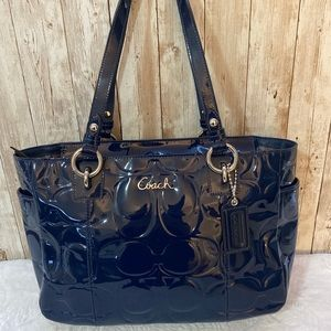 Coach F17728 Gallery Embossed Patent Leather tote